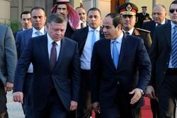 «السیسی» و «عبدالله دوم» درباره ازسرگیری مذاکرات سازش گفتگو کردند