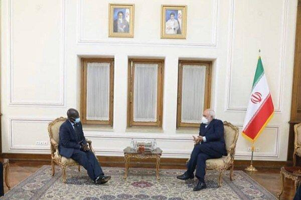 FM Zarif holds talks with Senegalese, Ghanaian envoys