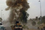 3rd US military convoy targeted in Iraq on Wed.