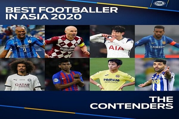 Four Iranians among nominees for best footballer in Asia 2020