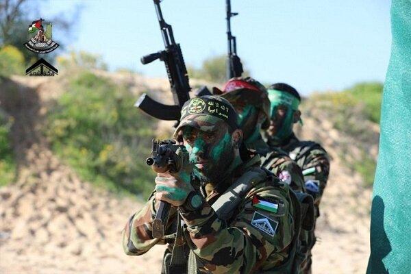 غرفة العمليات المشتركة لفصائل المقاومة الفلسطينية تختتم مناورات الركن الشديد