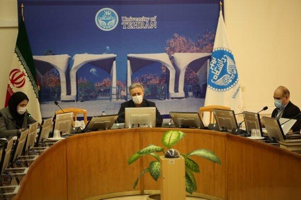 انعقاد اجتماع لرؤساء جامعتي طهران وسان بطرسبرغ
