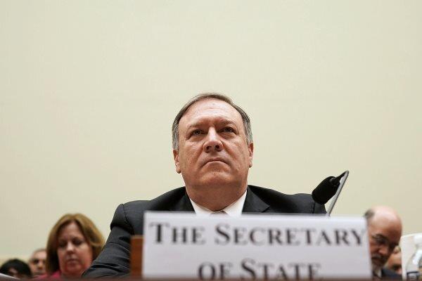 بومبيو يتهم ايران بانتهاك معاهدة حظر الأسلحة الكيميائية