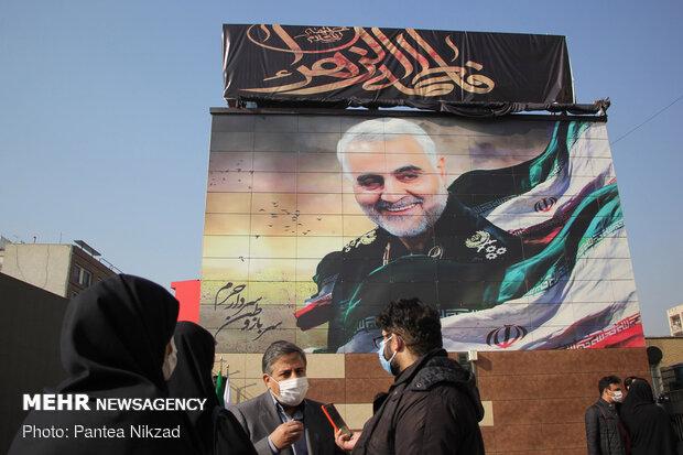 Mural of martyr Lt. Gen. Qassem Soleimani unveiled in Tehran