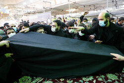Funeral procession of Ayat. Mesbah-Yazdi in Rey