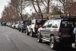 مسیر رژه خودرویی یوم الله ۲۲ بهمن در گلستان اعلام شد