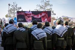 کرمان میں شہید سلیمانی کی شہادت کی مناسبت سے گلزار شہداء کا منظر
