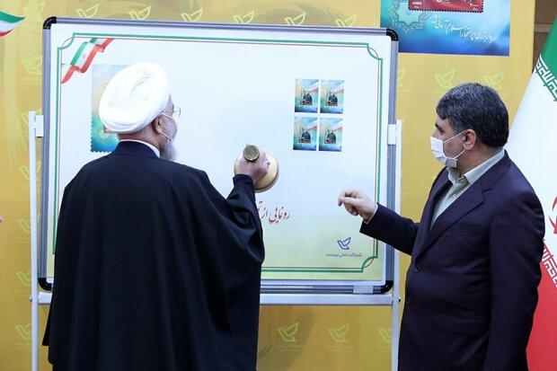 الرئيس روحاني يسدل الستار عن الطابع التذكاري للشهيد سليماني