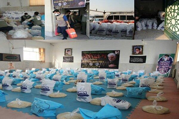 توزیع بستههای معیشتی توسط جهادیها در سالگرد شهید سلیمانی