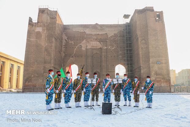 اجرای گروه های سرود به مناسبت سالگرد  شهیدسردار سلیمانی