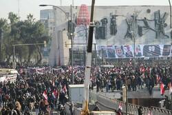 پیام تظاهرات عراقی ها به جنایت رئیس جمهور شکست خورده آمریکا