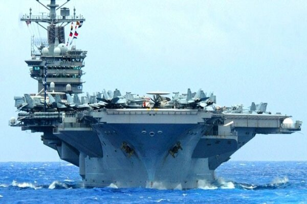 The aircraft carrier 'DE ... US withdraws from conflict with Iran