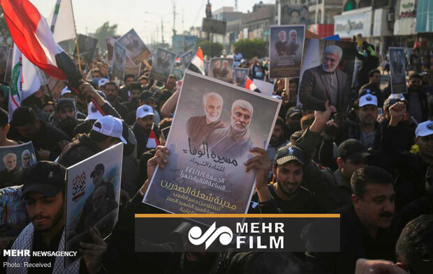 VIDEO: Iraqis gathering to commemorate Soleimani in Baghdad