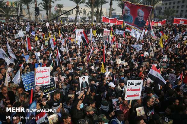 Baghdad rally on 1st anniversary of General's assassination