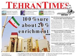 Front pages of Iran's English-language dailies on Jan. 04