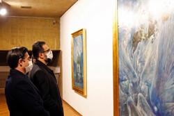 بازدید معاون هنری و مدیرکل هنرهای تجسمی از نمایشگاه روحالامین