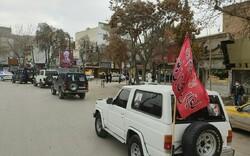 رژه خودرویی دهه بصیرت و سالگرد شهادت سردار دلها در بجنورد