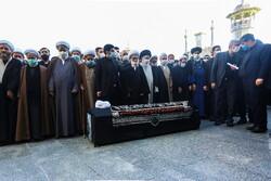 مراسم اقامه نماز و تدفین علامه مصباح یزدی