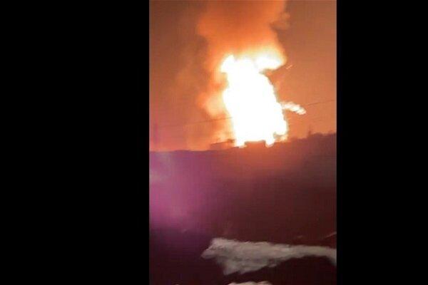 انفجار مستودع اسطوانات للغاز على الحدود السورية اللبنانية