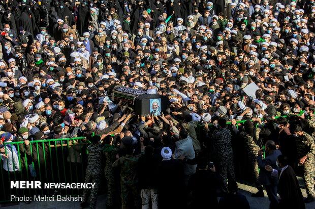 مراسم تشییع و تدفین علامه محمدتقی مصباح یزدی در قم