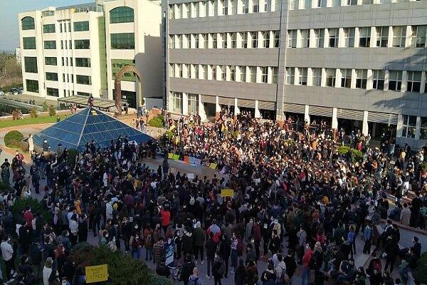 Boğaziçi öğrencileri Erdoğan'ın kararını protesto etti