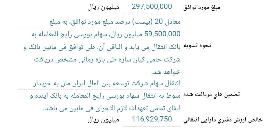 بدهکاران«آینده»،ایران مال رامیخرند؟