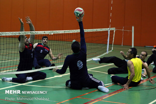 Men's sitting volleyball team holding training camp on Kish