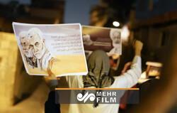 تظاهرات شبانه در بحرین در سالگرد شهادت سرداران مقاومت