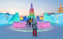 بزرگترین شهر یخی در چین