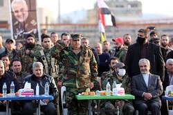 شام کے شہر حما میں شہید سلیمانی اور شہید ابو مہدی مہندس کی یاد میں تقریب منعقد