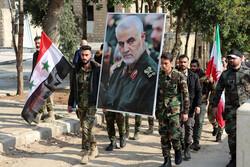 مراسم بزرگداشت سرداران شهید حاج قاسم و ابومهدی در شهر حلب