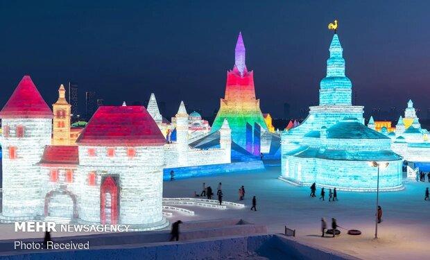 Çin'in buz kentinden fotoğraflar