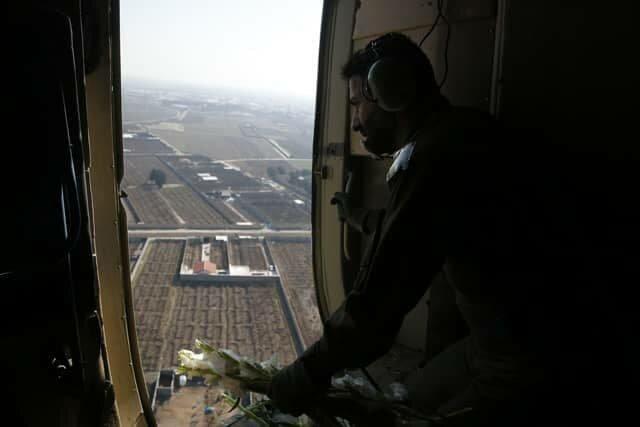 گرامیداشت یاد شهدای سقوط هواپیمای اوکراینی با گلباران محل حادثه