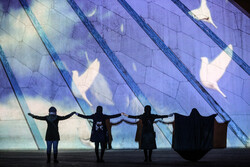 Videomapping on memorial of victims of Ukrainian plane