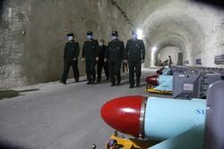 ایرانی سپاہ  کا خلیج فارس کے ساحلی علاقے میں زیر زمین میزائلوں کے اڈے کا افتتاح