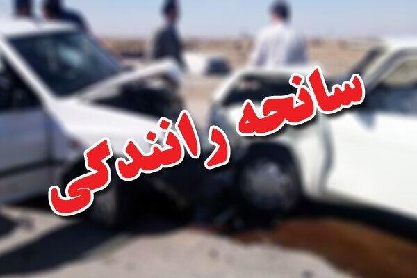 مصدومیت ۸ نفر در تصادف شهر نجفآباد