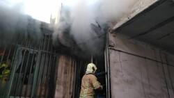آتش سوزی در بازار قزوین مهار شد