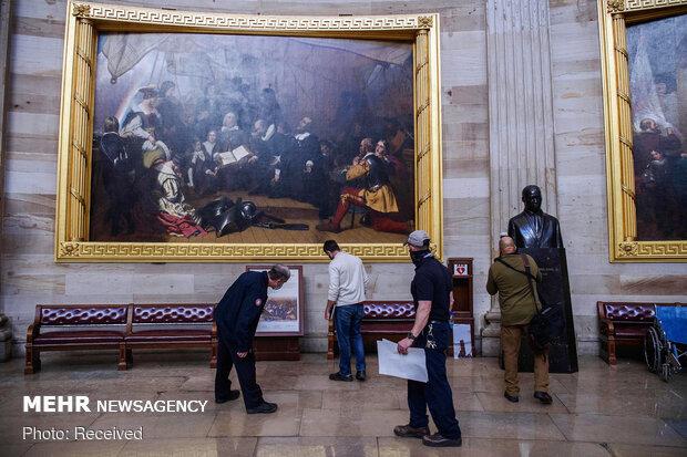 کنگره آمریکا پس از حمله هواداران ترامپ