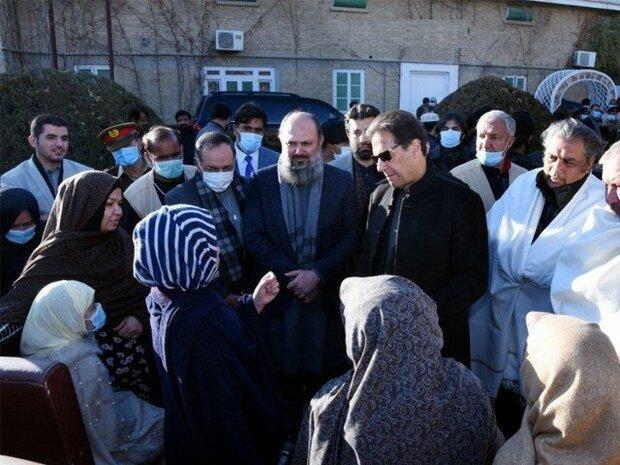 پاکستانی وزیر اعظم عمران خان کی کوئٹہ ميں سانحہ مچھ کے لواحقین سے ملاقات