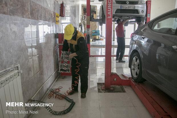 1st female mechanic in Tabriz