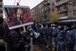 Moskova'daki Karabağ görüşmesi öncesi Erivan'da eylem