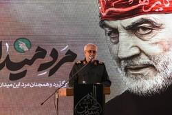 Şehit General Süleymani İran'ın kuzeyinde anıldı