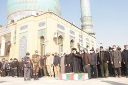 پیکر شهید مدافع حرم «غلامحسن دهقان آزاد» به خاک سپرده شد