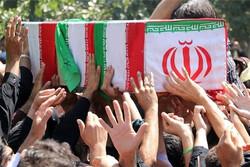 شیراز میں گمنام شہیدوں کی تشییع جنازہ