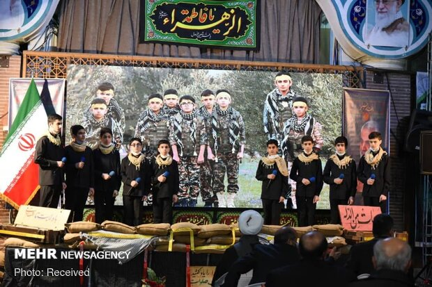مراسم نخستین سالگرد شهادت سردار سلیمانی و ابومهدی المهندس در گلزار شهدای رشت