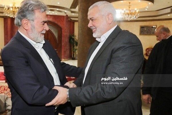 هنية والنخالة يؤكدان على الوحدة الفلسطينية وإنهاء الانقسام واستمرار التنسيق