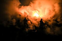 انفجار و آتش سوزی در واحد بازیافت لاستیک