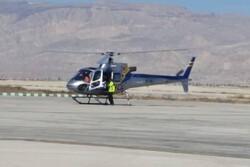 امدادرسانی بالگرد اورژانس به ۲ مصدوم حادثه دیده لامردی