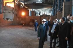 بازدید استاندار قزوین از واحدهای تولیدی در تاکستان