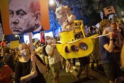 تداوم تظاهرات علیه «بنیامین نتانیاهو» در اراضی اشغالی